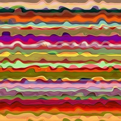 Digital Art - Wild Waves One by Michelle Calkins