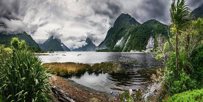 Photograph - Wild Weather At Milford Sound Panorama by Daniela Constantinescu