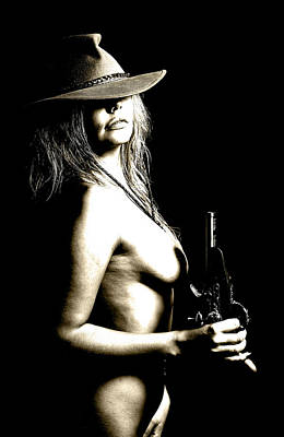 Nude Cowgirl Photograph - Wild West 2 by Naman Imagery