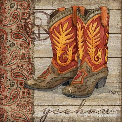 Cowgirl Boots Painting - Wild West Boots I by Paul Brent