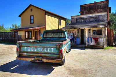 Turquoise And Rust Photograph - Wild West Chevrolet by Lynn Bauer
