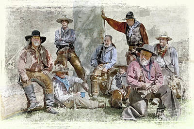 Photograph - Wild West Cowboys  by Jerry Cowart