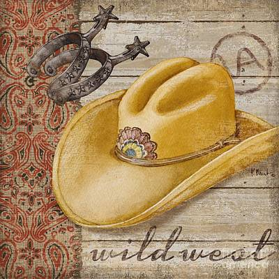 Cowgirl Boots Painting - Wild West Hats II by Paul Brent