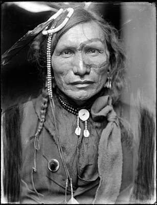 1900s Portraits Photograph - Wild West. Iron White Man, A Sioux by Everett