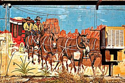 Photograph - Wild West Mural by Tatiana Travelways