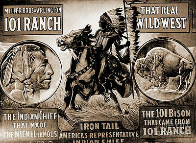 Photograph - Wild West Poster by Gary Wonning