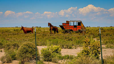 Old Masters Royalty Free Images - Wild West Ranch Art  Royalty-Free Image by Debra Martz