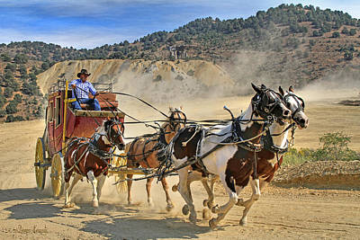 Canon 7d Photograph - Wild West Ride by Donna Kennedy