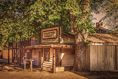 Photograph - Wild West Sheriff Office by Gene Parks