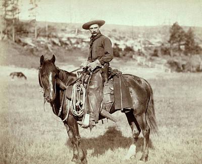 Wild West. The Cow Boy. Sturgis, Dakota Art Print by Everett