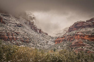 Ice Fog Photograph - Boynton Canyon Arizona by Racheal Christian