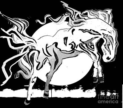 Painting - Wild White Mare by Belinda Threeths