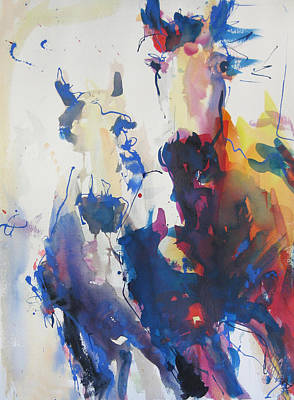 Art Print featuring the painting Wild Wild Horses by Robert Joyner