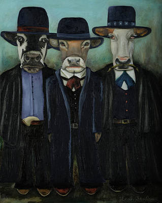 Steer Painting - Real Cowboys 2 Wild Wild West by Leah Saulnier The Painting Maniac