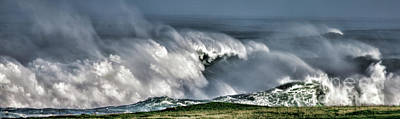 Photograph - Wild Winter Waves by Shirley Mangini