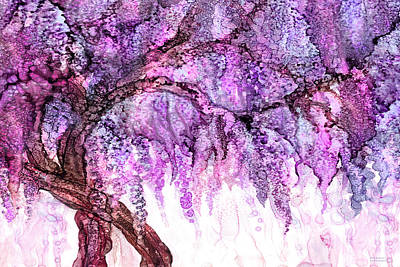 Mixed Media - Wild Wisteria 2 by Carol Cavalaris