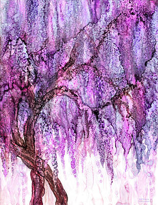 Mixed Media - Wild Wisteria by Carol Cavalaris
