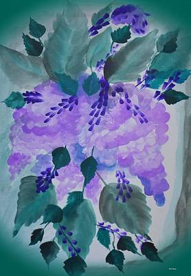 Watercolor Wisteria Painting - Wild Wisteria by Maria Urso