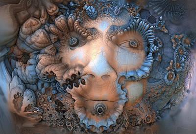 Digital Art - Wild Woods Man by Hal Tenny
