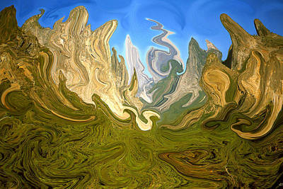 Painting - Wild Yosemite - Abstract Modern Art by Art America Gallery Peter Potter