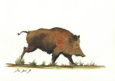 Painting - Wildboar by Juan Bosco