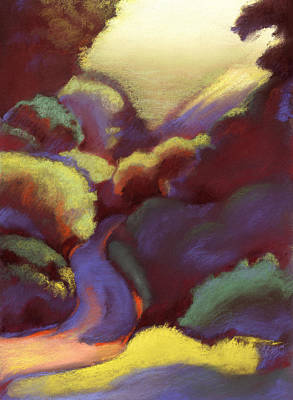 Drawing - Wildcat Canyon by Linda Ruiz-Lozito