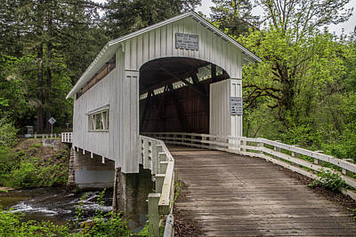 Photograph - Wildcat Creek Bridge No. 1 by Matthew Irvin