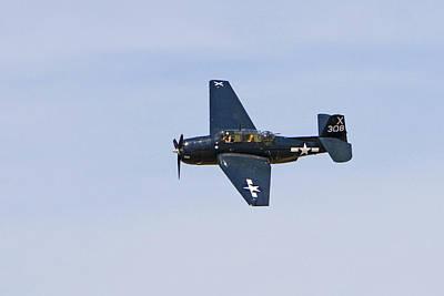 Venice Beach Bungalow - TBE-3E Avenger in Flight by Shoal Hollingsworth