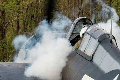 Photograph - Wildcat Smokey Engine Start by Liza Eckardt