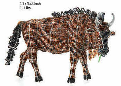 Allsorts Mixed Media - Wildebeest by Enoch mpofu