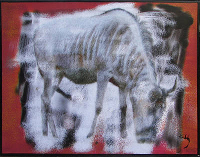 Painting - Wildebeest by Thomas Tribby
