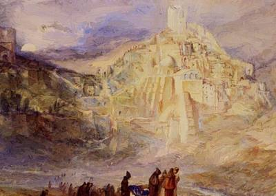 Saba Painting - Wilderness A Engedi Convent Of Santa Saba by Turner William