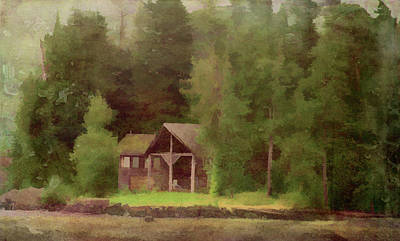 Photograph - Wilderness Cabin by Marilyn Wilson