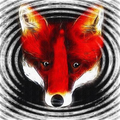 Sly Digital Art - Wilderness Fox by Madeline  Allen - SmudgeArt