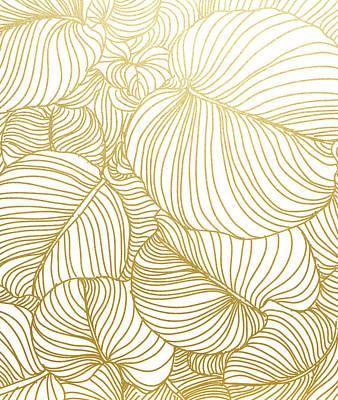 Drawing - Wilderness Gold by Uma Gokhale