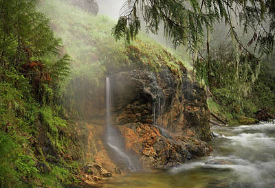 Spring Landscape Photograph - Wilderness Hot Springs by Leland D Howard