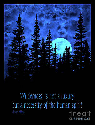 Photograph - Moonrise Wilderness Is Not A Luxury But A Necessity by John Stephens