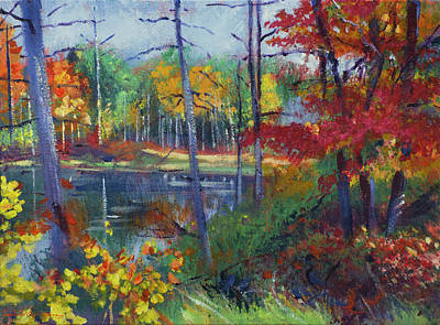 Impressionism Paintings - Wilderness Lake by David Lloyd Glover