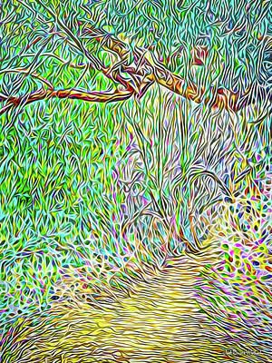 Digital Art - Wilderness Pathway by Joel Bruce Wallach