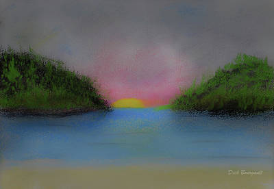 Painting - Wilderness Sunrise by Dick Bourgault
