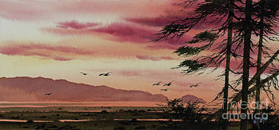 Painting - Wilderness Sunset by James Williamson