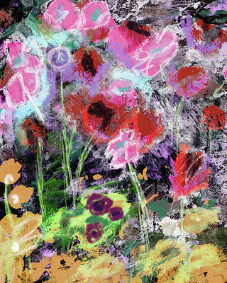 Contemporary Mixed Media - Wildest Flowers 2- Art By Linda Woods by Linda Woods