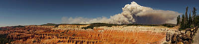 Photograph - Wildfire Cedar Breaks National Monument Utah by Lawrence S Richardson Jr