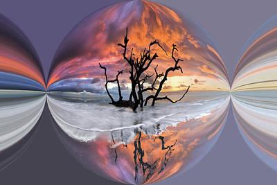 Sand Mandala Photograph - Wildfire Circles by Debra and Dave Vanderlaan