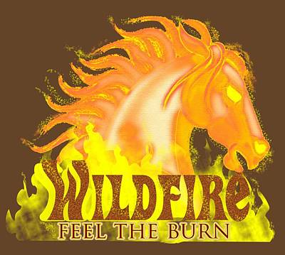Mixed Media - Wildfire - Feel The Burn by J L Meadows
