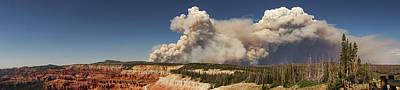 Photograph - Wildfire Panorama Cedar Breaks National Monument by Lawrence S Richardson Jr