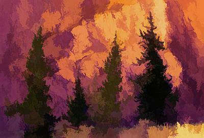 Digital Art - Wildfires by Aliceann Carlton