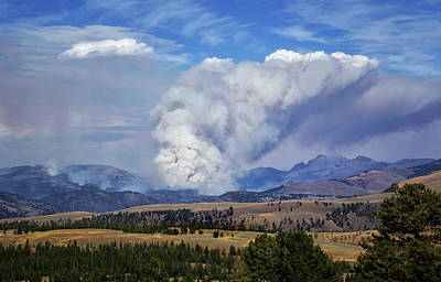 Wildfires In Yellowstone Art Print