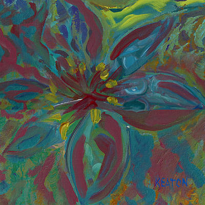 Print featuring the painting Wildflower 1 by John Keaton