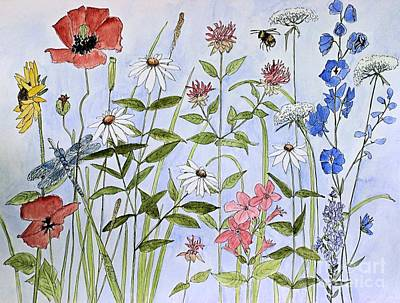 Painting - Wildflower And Blue Sky by Laurie Rohner